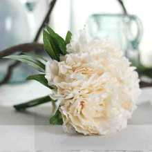Colorful party decorative vintage artificial silk peony wedding bouquets