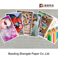 PROFESIONAL INK PRINTING INKJET PHOTO PAPER WITH A4 SIZE CAST COAT 108GSM