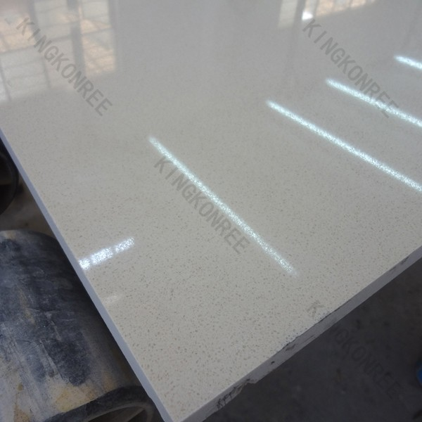 Küchenarbeitsplatte kristall weißem quarzverbund quartz
