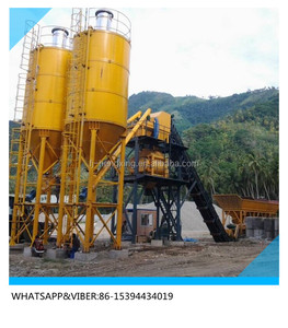 Mobile Concrete Batching Plant Cement Mixing Equipment (YHZS50)