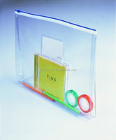 Snap Button Colored PVC Envelope Bag For Document Packaging
