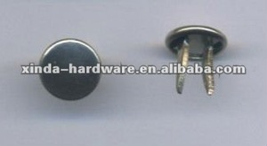 Brass and stainless Steel and iron Double pins Nails for Double pins Jeans button bottom Special sales 2012