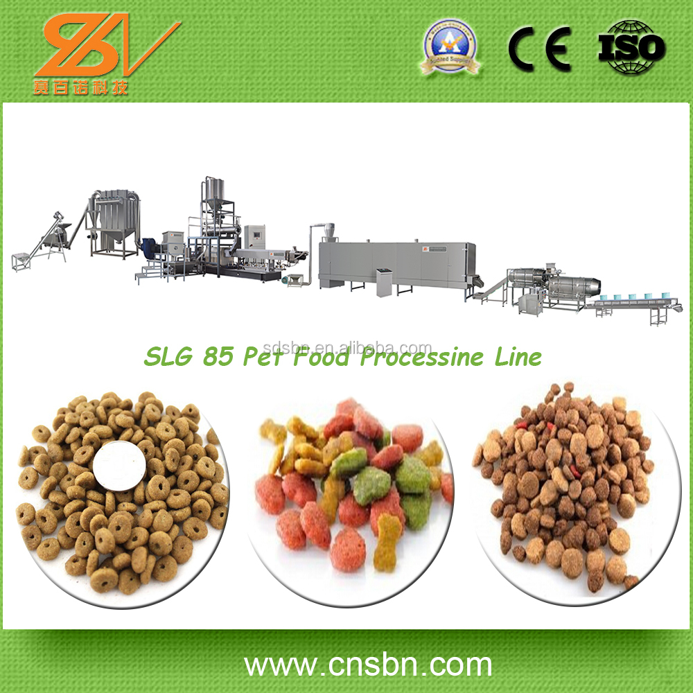 professional Stainless Steel 250-600kg/h Capacity Pet Food Processing Line /Fish food production line