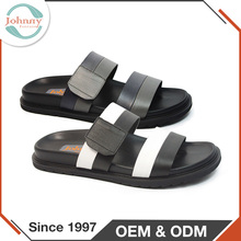 Fashion Design Cow Leather Lining Men Sandals And Slippers EVA Outsole