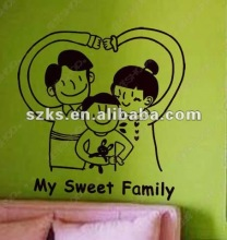 """my sweet family"" wall decoration sticker family wall decal"