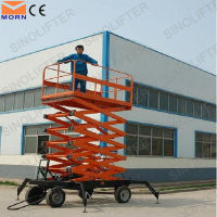10m movable hydraulic lift for painting