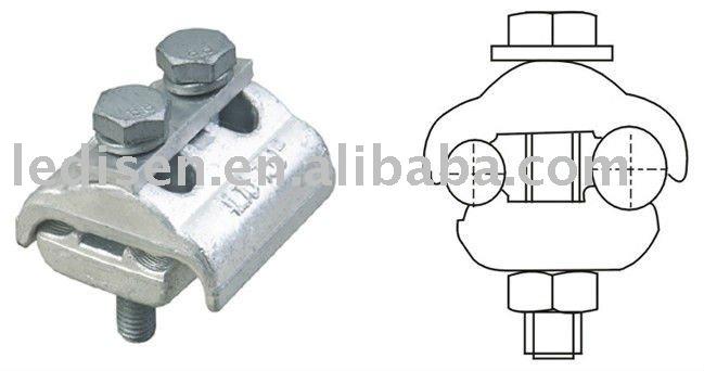 Aluminio surco paralelo conector eléctrico de