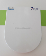 Big size urea uf material duroplast soft close d shape toilet seat with SS hinge