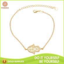 Chinese Mordern Geometry Shape Copper Chain Bracelet for Girl