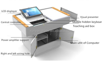 Modern Design Steel Multimedia Platform for School Teaching furniture