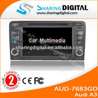 Sharing Digital AUD-7683GD HD touch screen Double Din Car DVD/Car vedio/car radio For Audi A3