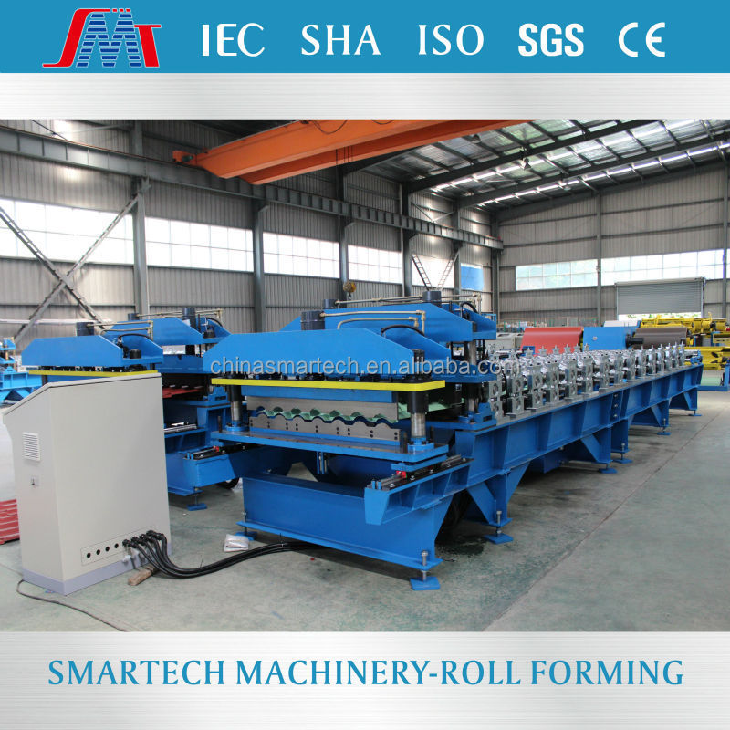 All automatic aluminum plate tile cold roll forming machine
