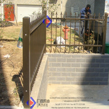 Galvanized Steel Picket Fence with Cast Aluminum Adorning