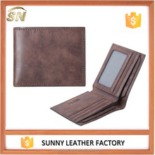Vintage good quality natural leather wallet men