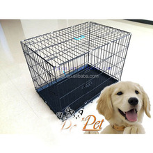 Double Door Metal Steel Crates | Indoor Outdoor Pet Home | Folding and Collapsible Cage