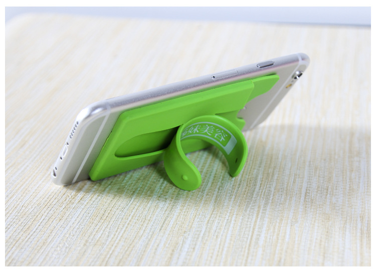 Wholesale silicone mobile phone card holder
