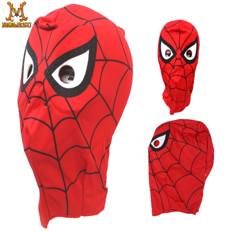 Children Boy Girls Spiderman Mask Polyester Hat Cap Party Spider Man Mask