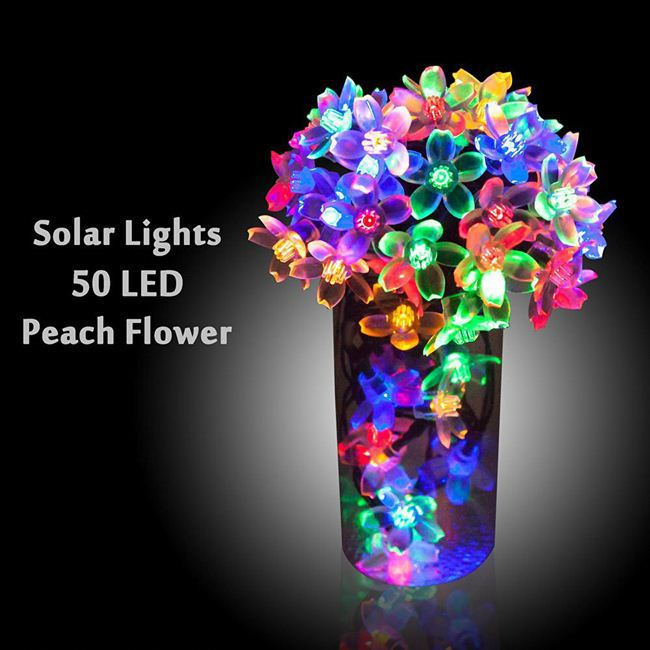 Diwali Multicolor LED Solar string light With CE RoHS certificate outdoor decoration