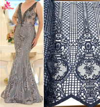 haute couture beaded lace fabric 3d dubai lace dress fabric