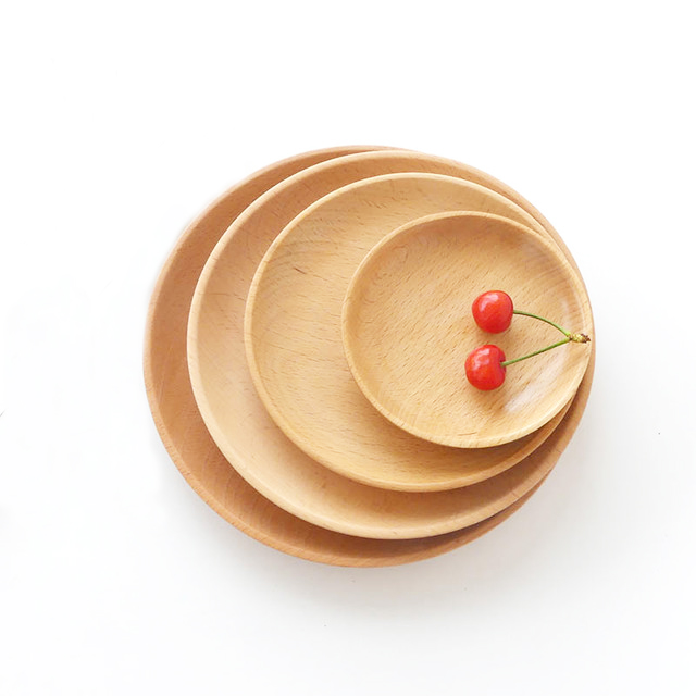 Factory Wholesale Hotel Custom Logo Wooden Dish Set Food Serving Wood <strong>Plate</strong> For Tableware