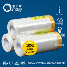HDPE Flim 450MM-2700MM Spraying Masking White Protection Film For Car Body