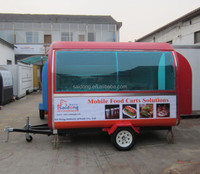 food equipment fast food cart /mobile food vending cart/food trailer with CE