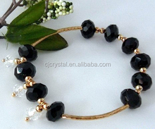 faceted black tourmaline bracelet,crystal bracelet,bracelet