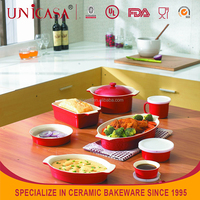 UNICASA 2015 HOT Sale Ceramic Bakeware dinnerware set
