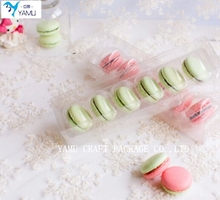 Food Packaging Macarons Cookie Box/clear plastic cake box/plastic gift box