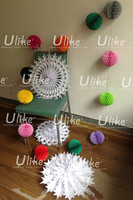 christmas garland with balls Party Round Ball Garland christmas foil garlands