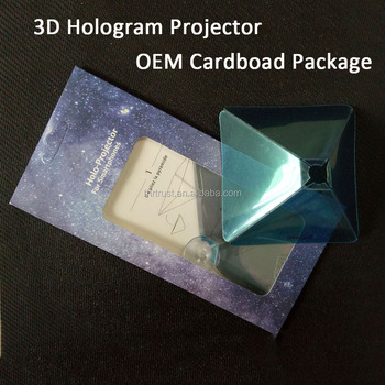 2016 new business Smartphone 3D holographic projector,Mini Pyramid Hologram for smartphone, 3D Hologram Display OEM logo