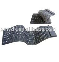 Silicone foldable computer keyboard