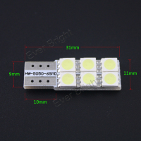 T10 6SMD 5050 106LM Auto Led Canbus Error Free Nonpolar12v t10 w2w canbus led light