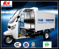 Best freezer reverse cargo trike flatbed tricycle enclosed cabin tricycle with cargo box