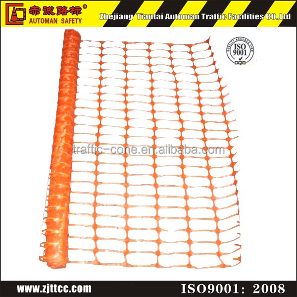 Plastic orange safety fence screen mesh size 100*40mm