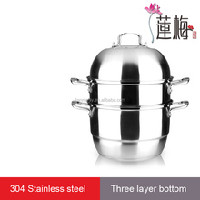 Stainless steel steam pot food cooking pot soup pot