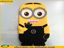 Brand New Despicable Me2 Minion Case 3D Silicon Soft Cartoon Case for iPad 5 /Air +free screen protector