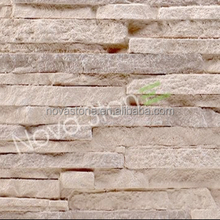 China Supplier light weight Polyurethane stacked stone faux wall panels