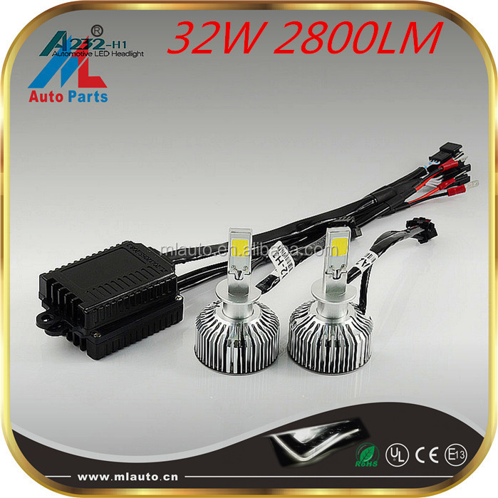 Hot selling 2800lm taiwan headlights ,16V skoda octavia led headlight
