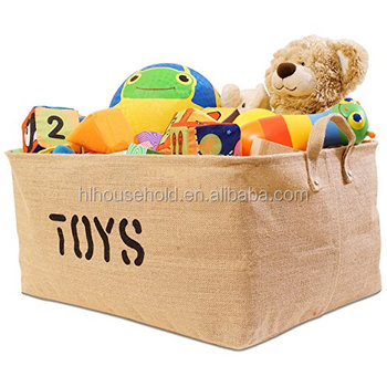 Large Thicker Stronger Toy Jute Storage Basket Bin For Organizing Baby  Clothes Gift