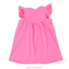 Baby girl frocks dress angel sleeve simple summer dress girls casual wear dress