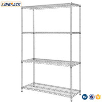 Chrome Wire Shelving For Warehouse Metal