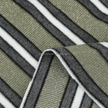 Factory sale polyester rayon spandex lurex yarn dyed stripe single pique knitted fabric