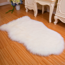 long wool artificial faux sheepskin fur white rug