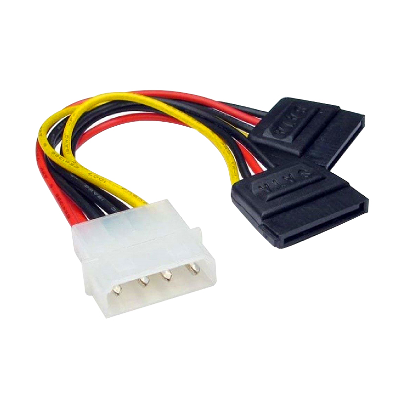 wholesale computer wire cables harness online buy best computer Wire Harness Clips 20cm 4pin molex to 2 dual sata power y splitter adapter \u003cstrong\u003ecable\u003c