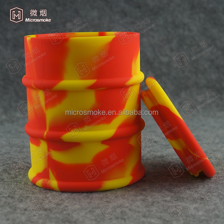 New design fashion 500 ml firm cap wax container silicone oil barrel Container Oil dab barrel wholesale