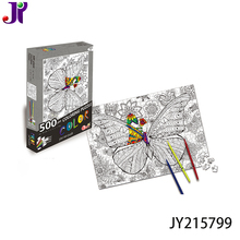 2018 new educational toys 2 in 1 diy Painting 500 pieces jigsaw puzzle