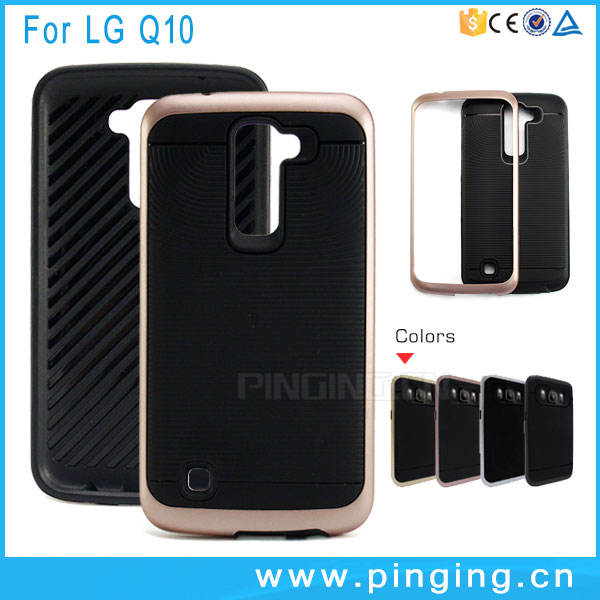 wholesale whirlwind hybrid rugged case for LG <strong>Q10</strong> cell <strong>phone</strong> case
