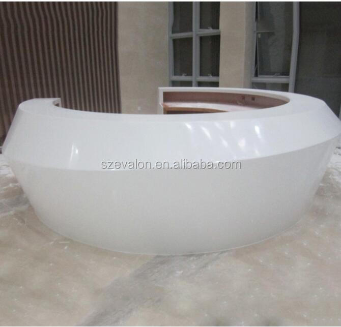 small round reception desk front desk counter design,acrylic solid surface Hotel reception desk