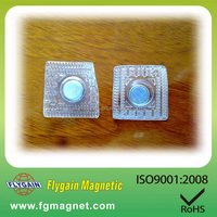 N35 disc magnet with pvc for clothing